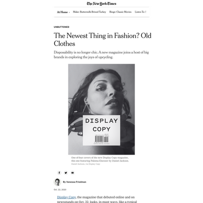 The Newest Thing in Fashion? Old Clothes