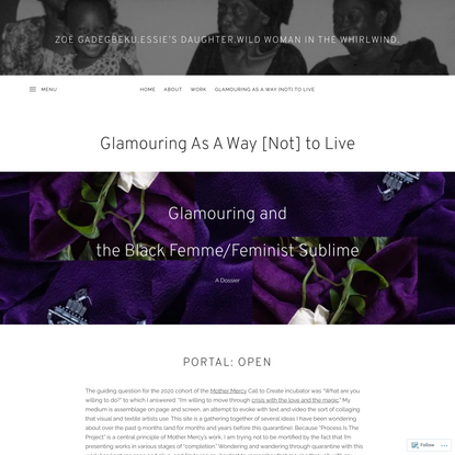Glamouring As A Way [Not] to Live