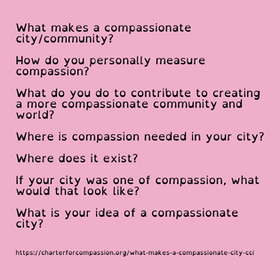 Questions for a Caring/Compassionate City