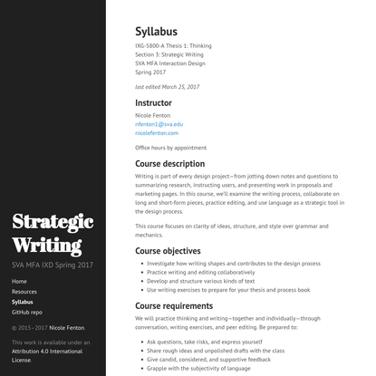 SVA IXG-5800-A: Strategic Writing