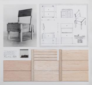Enzo Mari, Scale 1:1 P chair kit (2002)