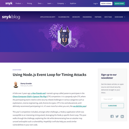 Using Node.js Event Loop for Timing Attacks   Snyk