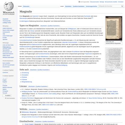 Marginalie – Wikipedia