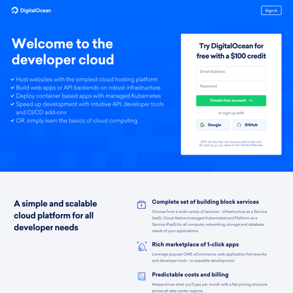 Welcome to the developer cloud