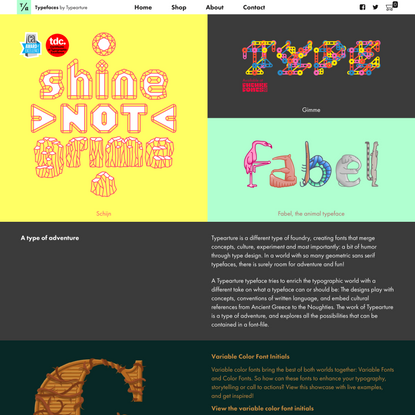 Typearture by Arthur Reinders Folmer, fonts that are more than fonts