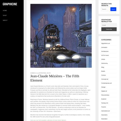 Jean-Claude Mézières – The Fifth Element – Graphicine