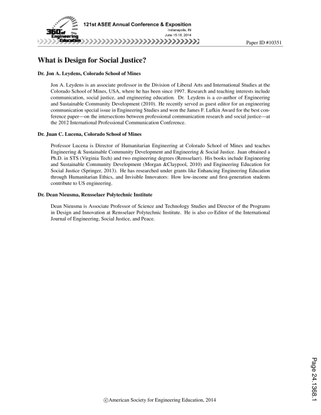 ASEE: What is Design for Social Justice?
