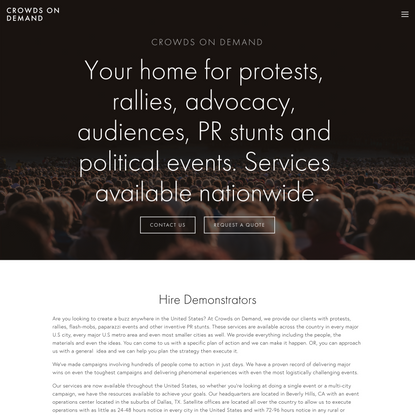 Hire Demonstrators for PR Events and More
