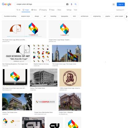 cooper union old logo - Google Search