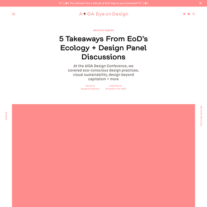 5 Takeaways From EoD's Ecology + Design Panel Discussions