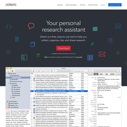 Zotero | Your personal research assistant
