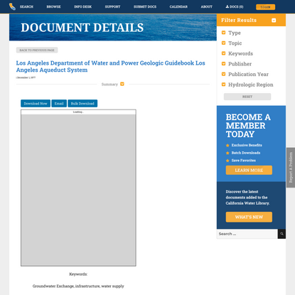 Los Angeles Department of Water and Power Geologic Guidebook Los Angeles Aqueduct System – California Water Library