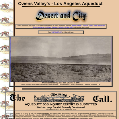 Los Angeles Aqueduct - Desert and City