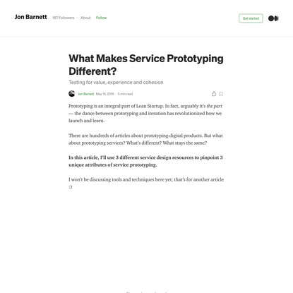 What Makes Service Prototyping Different?