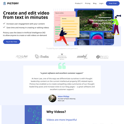 Pictory - Text to video in minutes
