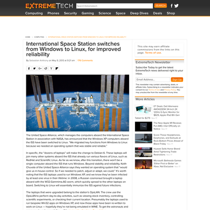 International Space Station switches from Windows to Linux, for improved reliability - ExtremeTech