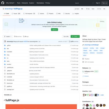alvarotrigo/fullPage.js