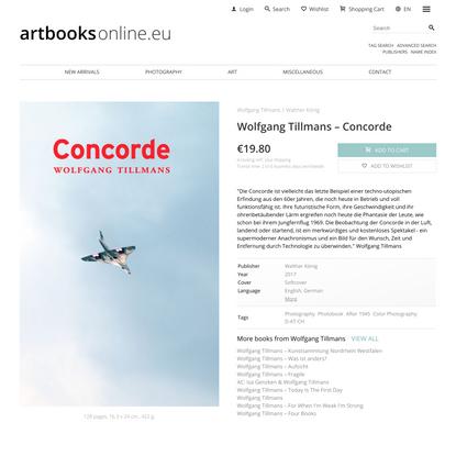 Wolfgang Tillmans – Concorde / €19.80