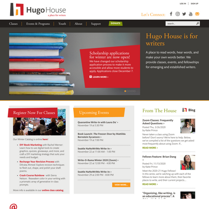 Hugo House in Seattle - A Place for Writers