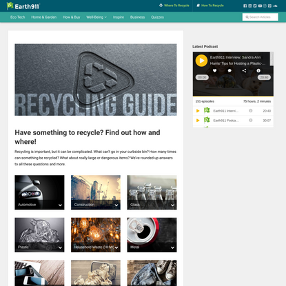 Recycling Center Search & Recycling Guides   Earth 911