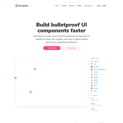 Storybook: UI component explorer for frontend developers