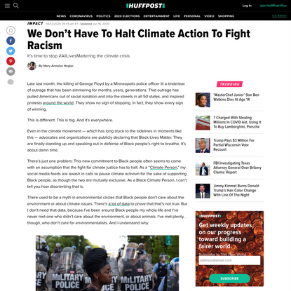 We Don't Have To Halt Climate Action To Fight Racism