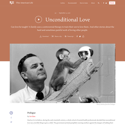 Unconditional Love - This American Life