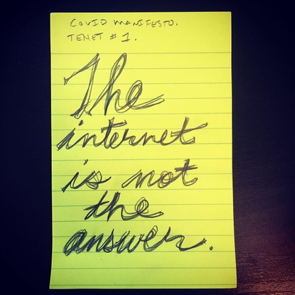 """c.20:20's Instagram photo: """"#COVIDMANIFESTO 01.00, Posted 13 April, 2020 by @Cauleen_smith"""""""