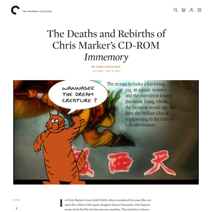 The Deaths and Rebirths of Chris Marker's CD-ROM Immemory