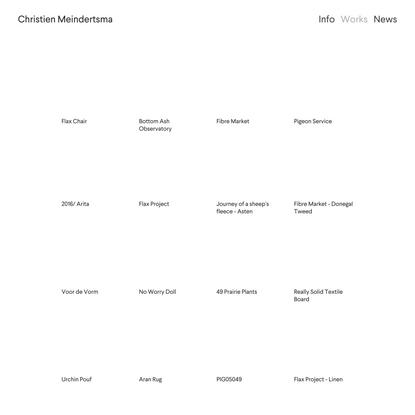 Works — christienmeindertsma