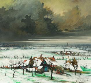 Achiel Van Sassenbrouck, Winterscape
