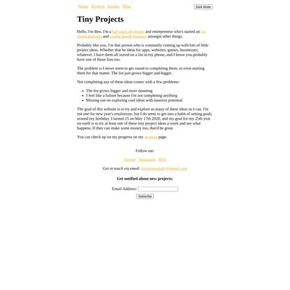 Tiny Projects