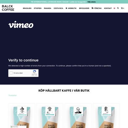 Balck Coffee - Hållbart kaffe genom transparens och kvalité
