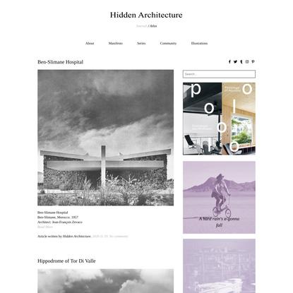 Journal - Hidden Architecture