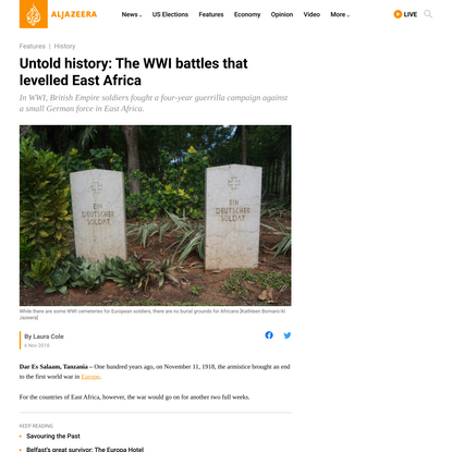 Untold history: The WWI battles that levelled East Africa