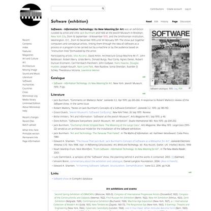 Software (exhibition) - Monoskop