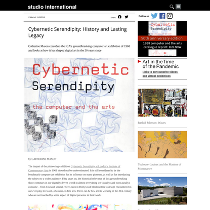 Cybernetic Serendipity: History and Lasting Legacy