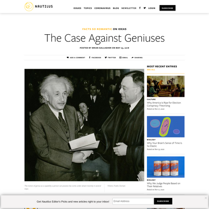 The Case Against Geniuses - Facts So Romantic - Nautilus