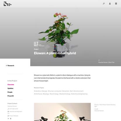 Project Overview ‹ Elowan: A plant-robot hybrid – MIT Media Lab