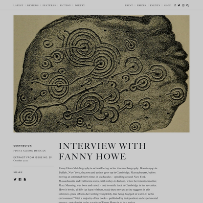 Interview with Fanny Howe - The White Review