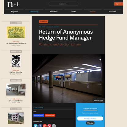 Return of Anonymous Hedge Fund Manager