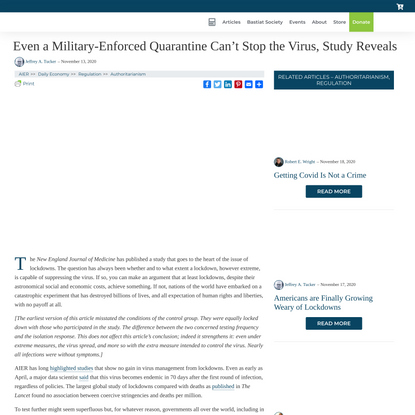 Even a Military-Enforced Quarantine Can't Stop the Virus, Study...