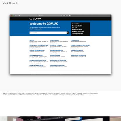 Mark Hurrell – GOV.UK beta to live