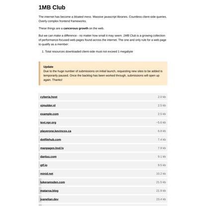 1MB Club