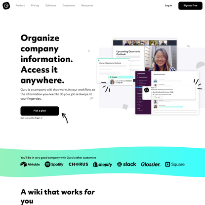 Organize company information & access it anywhere