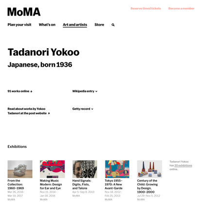 Tadanori Yokoo | MoMA