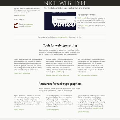 Nice Web Type