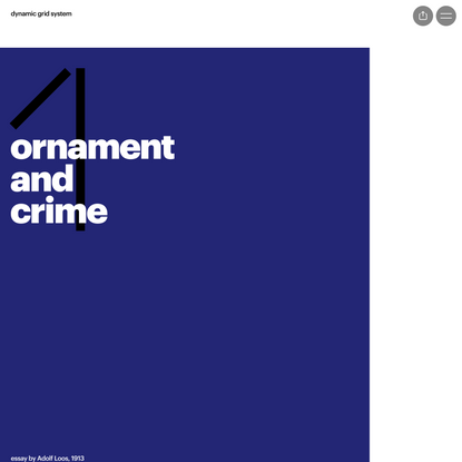 Page 1 from 'Dynamic Grid System • Issue 1: Ornament and Crime' by Stas Aki