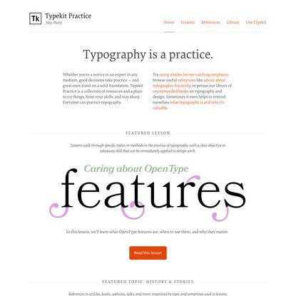 Typekit Practice