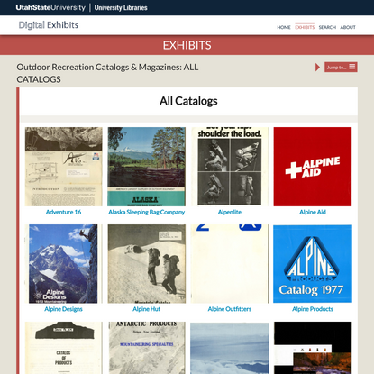 ALL CATALOGS · Outdoor Recreation Catalogs & Magazines · USU Digital Exhibits